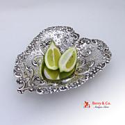 Heart Serving Bowl Sterling Silver Gorham