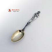 Full Figure Miner Souvenir Spoon Watson Sterling Silver 1895
