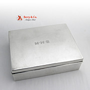 Tiffany and Company Large Gentlemans Box Sterling Silver