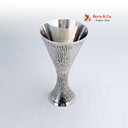 Arts and Crafts Sterling Silver Hour Glass Goblet