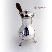 French Chocolate Pot Paris 1780 Maker JFR 958 Sterling Silver