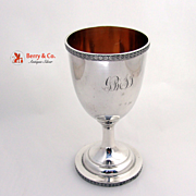 American Coin Silver Water or Wine Goblet 1873