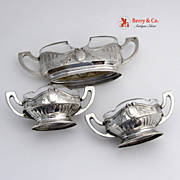 Open Salts Toothpick Holder 800 Silver Crystal 1930