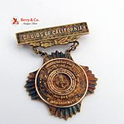 Druids of California 10K Gold Award or Merit 1920