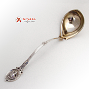 Medallion Large Soup Ladle John Wendt Sterling Silver Barrett Sherwood San Francisco 1865