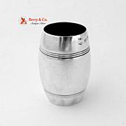 Barrel Shape Vodka Shot Sterling Silver Birmingham 1938