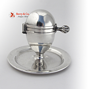 SOLD Egg Cup and Cutter Patent 1910 Sterling Silver