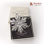 Christmas Snowflake Ornament Gorham Sterling Silver 1974