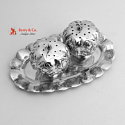 Pumpkin Salt and Pepper Shakers Sterling Silver Mexico 1960