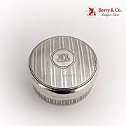 Tiffany Pill Box Sterling Silver Gilt 1930