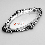 Repousse Dresser Tray Cupids Scrolls Shiebler Sterling Silver 1900