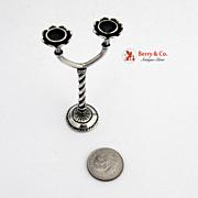 Sterling Silver Miniature Candelabra 1940