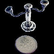 Miniature Candelabra Sterling Silver 1900