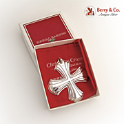 Christmas Ornament Reed and Barton Christmas Cross Sterling Silver 1980