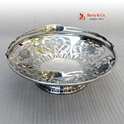 Swing Handle Serving Basket Sterling Silver Whiting 1910