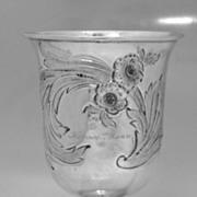 Coin Silver Goblet 1840 Horace Mann Philadelphia