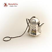 Tea Pot Tea Ball Sterling Silver G.H. French 1940
