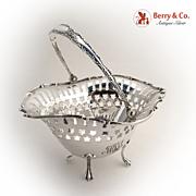 Swing Handle Basket Towle Sterling Silver