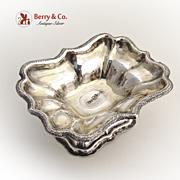 Russian 84 Standard Silver Ornate Open Salt Dish 1861 Moscow