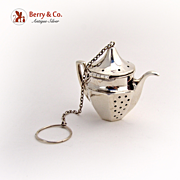 Tea Pot Tea Ball 1900 Sterling Silver
