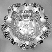 Poppy Sterling Serving Bowl Reed & Barton Sterling Silver 1900
