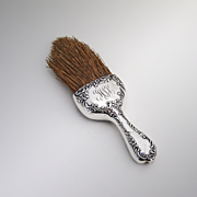 Rose And Scroll Clothes Brush Sterling Silver Howard Company 1900