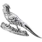 Figural Bird Salt Shaker Sterling Silver Clewley And Co 1905