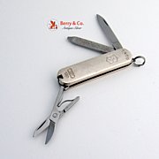 Tiffany 1837 Swiss Army Knife Sterling Silver Stainless Steel 1980