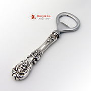 SOLD Francis I Bottle Opener Sterling Silver Stainless Steel Reed And Barton 1907