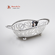 Tiffany Beaded Openwork Nut Or Candy Dish Sterling Silver 1910