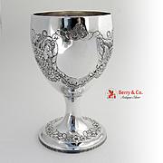 Georgian Irish Large Goblet Sterling Silver Gustavus Byrne 1808