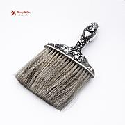 Art Nouveau Maiden Clothes Brush Sterling Silver Horse Hair 1900