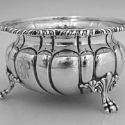 Open Master Salt Dish Gadroon Howard & Co 1890 Sterling Silver