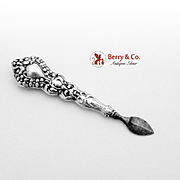 Ornate Repousse Grooming Tool Sterling Silver 1900