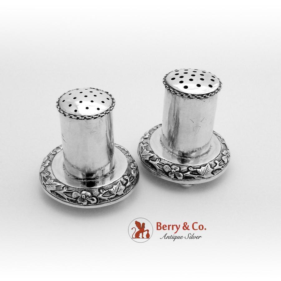Chinese Silver Salt Pierced Glass