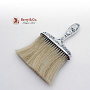 Floral Scroll Bonnet Clothes Brush Sterling Silver Gorham 1900