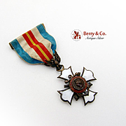 Military Order Of The Spanish American War Medal Bronze 1898