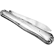 Folding Pocket Or Fruit Knife Coin Silver Albert Coles 1870