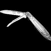 All Silver Folding Pocket Or Fruit Knife Sterling Silver Gorham 1880