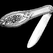 All Silver Folding Pocket Or Fruit Knife Sterling Silver Gorham 1860