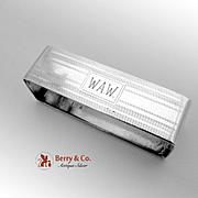 Art Deco Rectangular Napkin Ring Sterling Silver Mueck Carey Co 1940