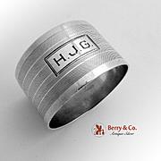 Art Deco Napkin Ring Sterling Silver Watrous 1930