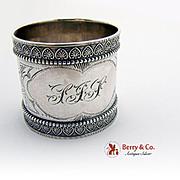 Aesthetic Palmette Napkin Ring Sterling Silver Wood Hughes 1880