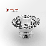 Repousse Footed Bowl Sterling Silver S Kirk Son 1930
