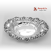 Violet Bread Tray Sterling Silver Whiting 1905