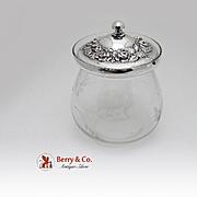 Repousse Jam Jar Sterling Silver Stieff 1940