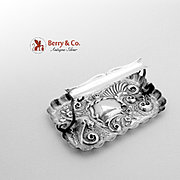 Ornate Repousse Bird Pin Tray Rest Sterling Silver Charles Henry Dumerk 1894