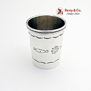 SALE PENDING Hand Made Navajo Style Heavy Shot Cup Sterling Silver 1950