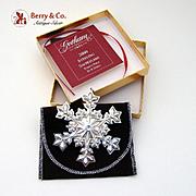 Gorham Christmas Ornament Sterling Silver 2000