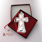 Christmas Ornament Cross First In Series Sterling Silver Towle 1994